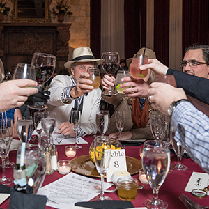 Atlanta Murder Mystery guests raise glasses